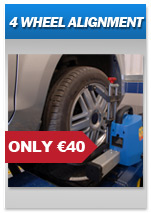 Car Van Jeep 4 wheel alignment from PTX Tyre Centre Gorey Wexford